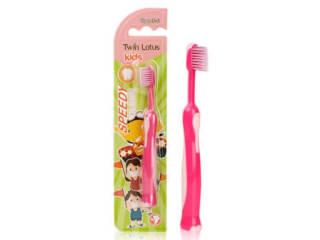 双莲双尖螺旋软毛儿童牙刷(3-6岁)